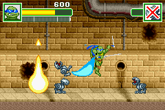 Teenage Mutant Ninja Turtles - Level 1 - Spin attack - User Screenshot
